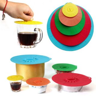 Silicone Cooking Pot Pan Lid Silicone Fresh Cover