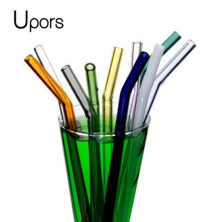 Eco Friendly Drinking Straws with Cleaning Brush Glass