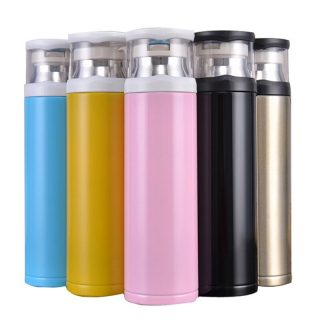 Transparent Cover Outdoor Sports Insulated Water Bottle Flask