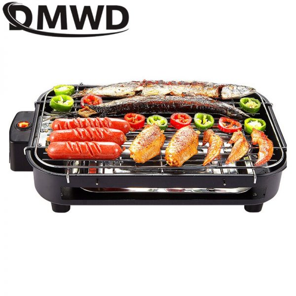 Multifunctional Electric Griddle Smokeless BBQ Grill