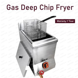 12L LPG Gas Potato Chips Fish Deep Fat Fryer Single Tank