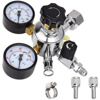 CO2 Kegerator Regulator with Pressure Adjustment Knob