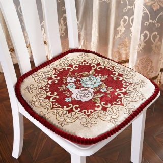European Jacquard Chair Cushion Home Decor Chair