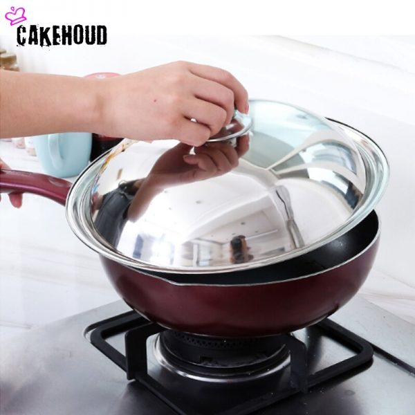 Wok Cover With Knob Thickened Heat-resistant