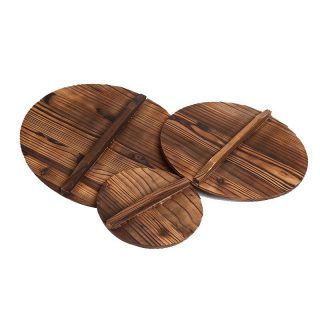Wooden Lid With Handle For Round Frying Pan