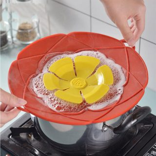 Silicone lid Spill Stopper Cover For hot Pan