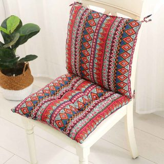 Square Chair Pad Thicker Seat Cushion For Dining