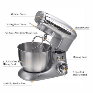 6 Speed Electric Food blender Mixer