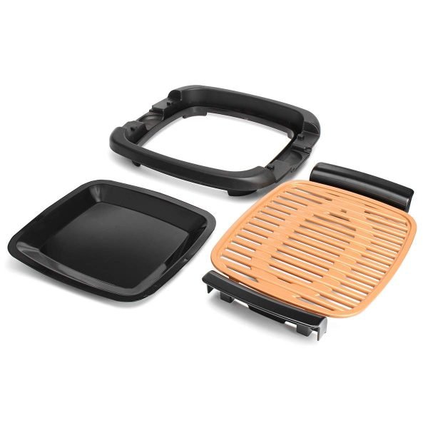 220V Outdoor Portable Smokeless Electric Pan Grill BBQ