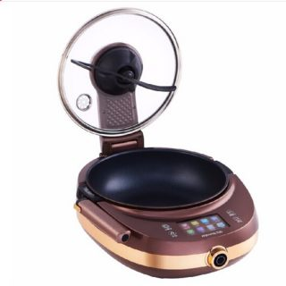 2V Multifunction Electric Wok Automatic Stir-Frying