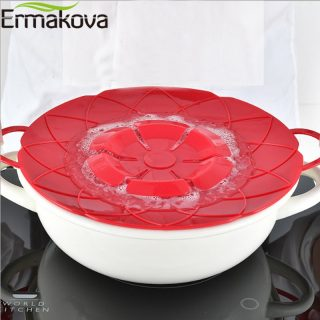 Spill Stopper Silicone Lid Cover Pot