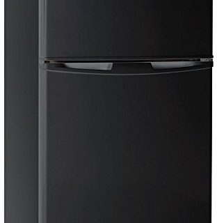 3.2 Cubc Foot 2 Door Fridge and Freezer, Black