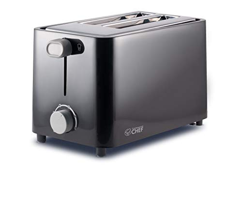 Commercial Chef 2 Slice Toaster, Black