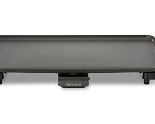 """Kenmore 10"""" x 18"""" Non-Stick Electric Griddle in Gray"""