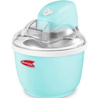 Elite Gourmet Americana EIM-520 By Elite Maxi-Matic 1 Quart Automatic Easy Homemade Electric Ice Cream Maker, Frozen Yogurt, Sorbet, Gelato Treat, with Recipes, Blue