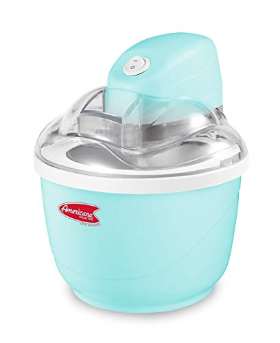 Elite Gourmet Americana EIM-520 By Elite Maxi-Matic 1 Quart Automatic Easy Homemade Electric Ice Cream Maker, Frozen Yogurt, Sorbet, Gelato Treat, with Recipes, Blue