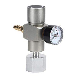 CO2 Mini Keg Gas Regulator - LUCKEG Brand Mini Regulator Keg Charger Tr21x4 connect Standard Soda CO2 Tank, for Soda Maker or Wine Making