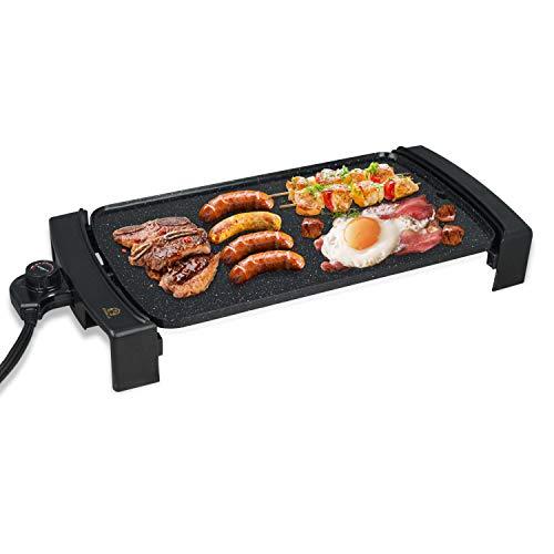Electric Griddle Non-Stick, Smokeless Portable Pancake Griddle