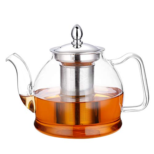 Teapot with Removable Infuser, Stovetop Safe Tea Kettle