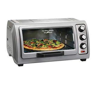 Toaster Oven with Easy Reach Roll-Top Door