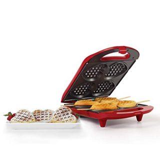 Holstein Housewares HF-09031R Non-Stick Heart Waffle Maker, Red