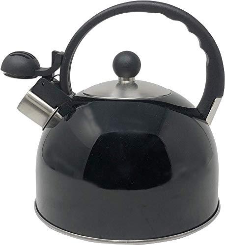 Steel Tea Kettle with Cool Grip Ergonomic Handle