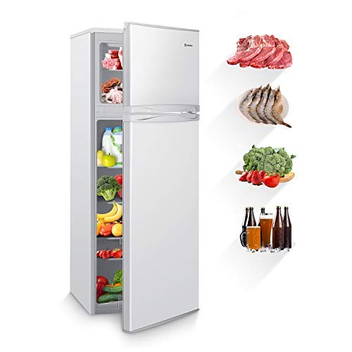 Dual Door Fridge with Freezer Compact Refrigerator