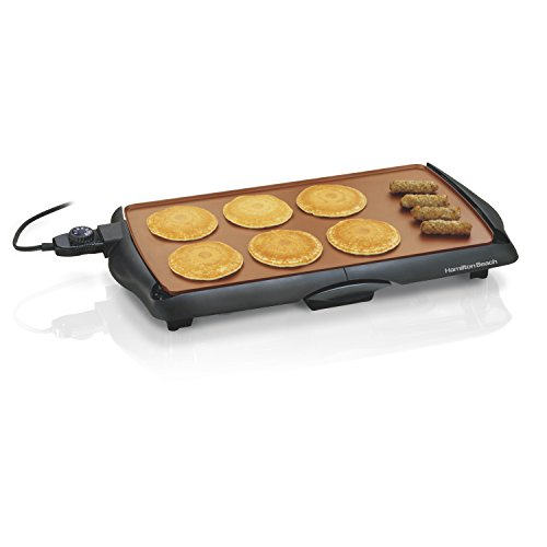 Hamilton Beach Durathon Ceramic Griddle, 200 sq. in, Black