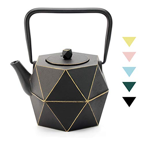 Tea Kettle, TOPTIER Japanese Cast Iron Teapot with Stainless Steel Infuser