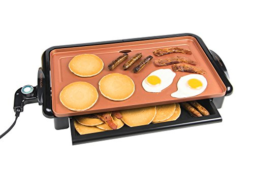 Non-Stick Copper Griddle with Warming Drawer