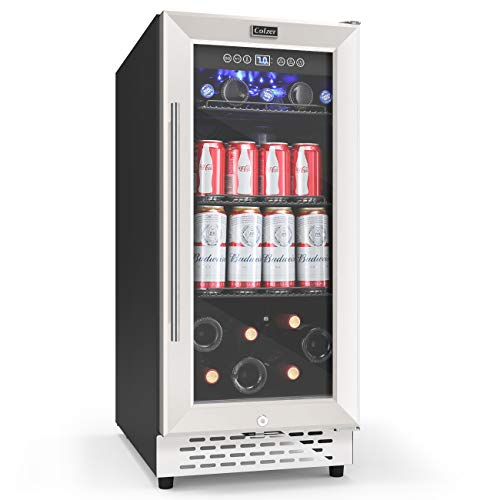 Freestanding and Built-in Mini Fridge with Glass Door