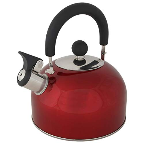 Lily's Home 2 Quart Stainless Steel Whistling Tea Kettle