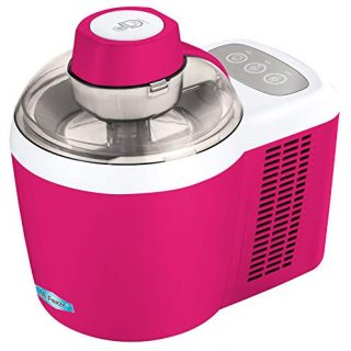 Elite Gourmet Freezing Self-Refrigerating Ice Cream Maker, Frozen Yogurt, Sorbet, Gelato Treat, 1.5 Pint, EIM-700BR