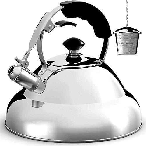 Tea Kettle Stovetop Whistling Single Handle Teapot