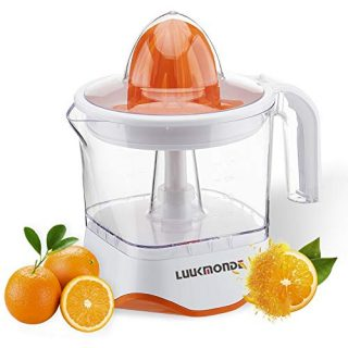 LUUKMONDE Electric Citrus Juicer Pulp Control Orange Squeezer with Two Interchangeable Cones 40W Professional Motor Electric Lemon Juicer for Grapefruit Orange Lemon Extractor D-8006A