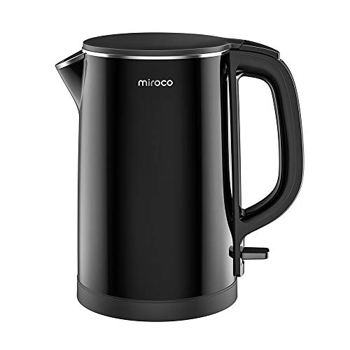 Electric Kettle, Miroco 1.5L Double Wall 100% Stainless Steel