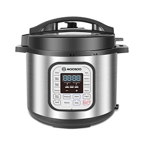MOOSOO 12-in-1 Electric Pressure Cooker Slow Cooker