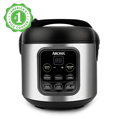 Aroma Housewares ARC-994SB 2O2O model, Rice, Grain, Saute Pan, Slow Cooker, Steamer, Stewpot, Oatmeal, Risotto, Soup Maker, 8-cup cooked/4-cup uncooked/2QT, Stainless Steel (Renewed)