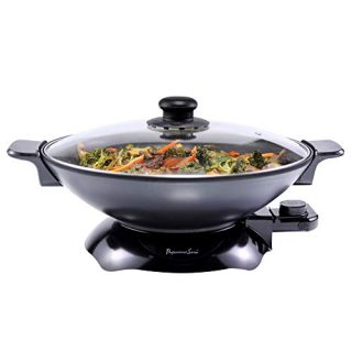 Continental Electric Chef Electric Wok, 4.5 Quart, Black