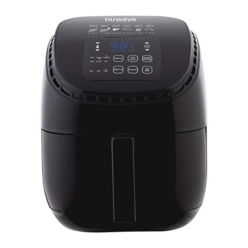 NUWAVE BRIO 3-Quart Digital Air Fryer cooking package with one-touch digital controls