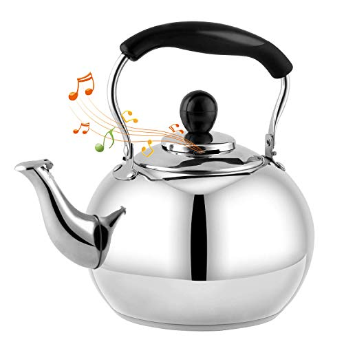 Stove Top Whistling Tea Kettle 2.5 Quart Classic teapot