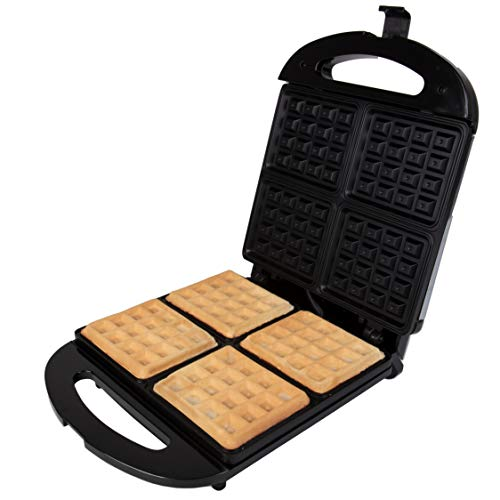 Stainless Steel Waffler Griddle Iron with Browning Control