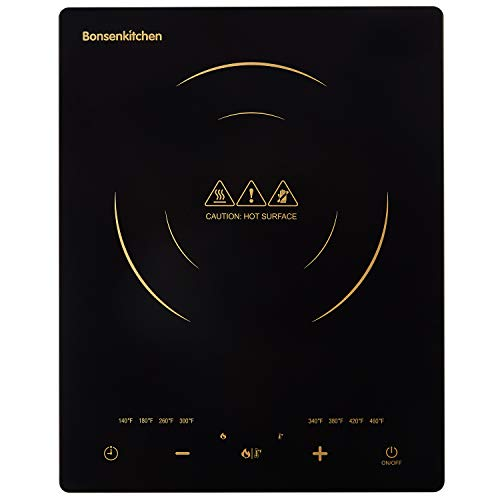 Portable Touch Induction Cooktop with LED Touch Screen, 1800W Countertop Burner, Induction Stove Cooker For Griddle, Pan, Tea Kettle, Outdoor, Indoor