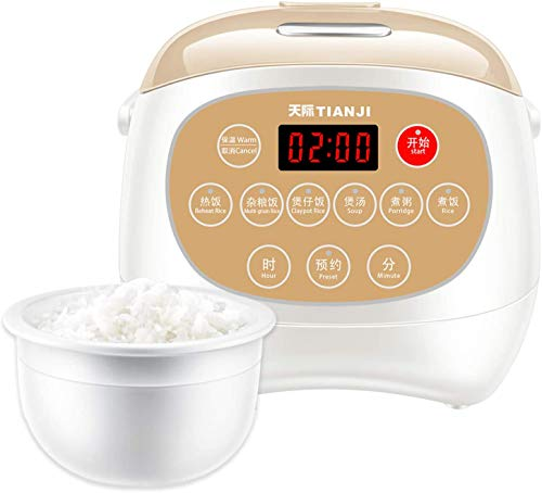 Tianji Electric Rice Cooker FD30D with Ceramic Inner Pot, 6-cup(uncooked) Makes Rice, Porridge, Soup,Brown Rice, Claypot rice, Multi-grain rice,3L
