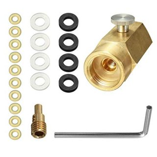 Co2 Cylinder Refill Adapter Connector Kit, CGA320 Thread Set Replacement for Sodastream Tank Home Filling Soda Maker (Cylinder Refill Adapter Kit)