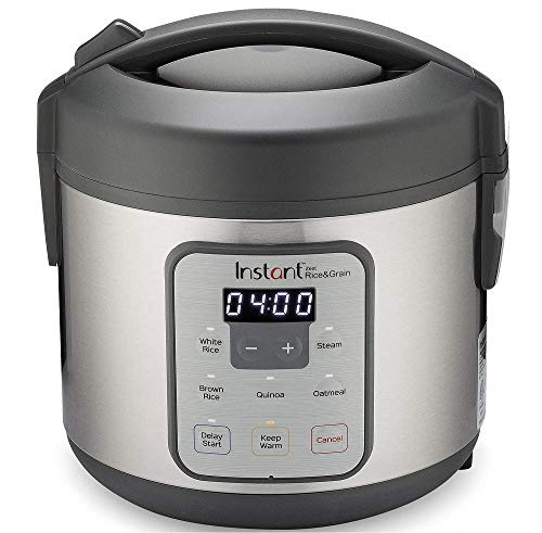 Instant Zest 8 Cup Rice Cooker, Steamer, Cooks Rice, Grains, Quinoa and Oatmeal
