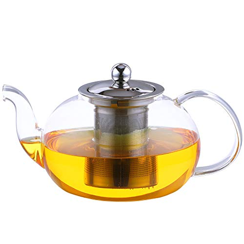 Antner 1200ml/40oz Glass Teapot with Removable Infuser