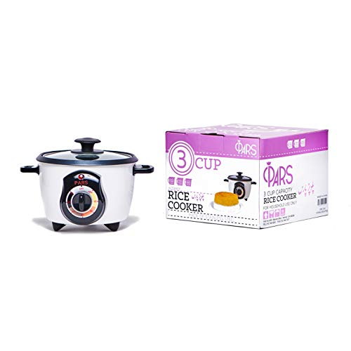 Pars Automatic Persian Rice Cooker - Tahdig Rice Maker Perfect Rice Crust 3 Cup
