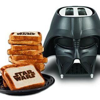 Uncanny Brands Star Wars Darth Vader Elite 2-Slice Toaster- Star Wars Icon Logo onto Your Toast