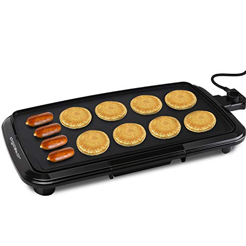 1500W Pancakes Griddle Grill with Drip Tray